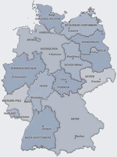 Karte Deutschland - DBVW - Landesverband der Wasser- und Bodenverbände
